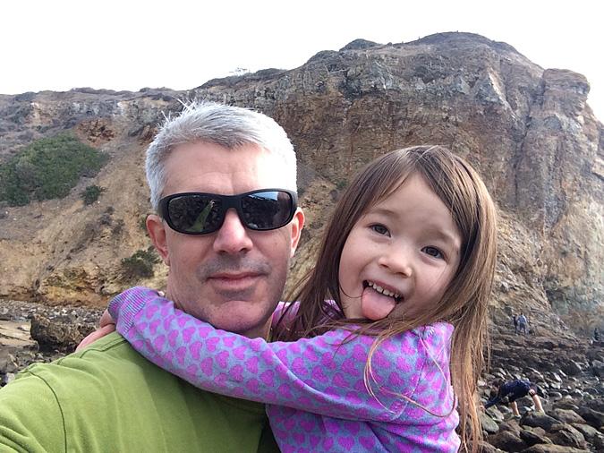Abalone Cove tidepools selfie