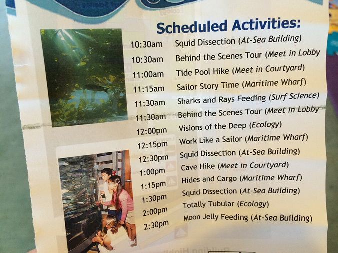 Ocean Institute weekend schedule