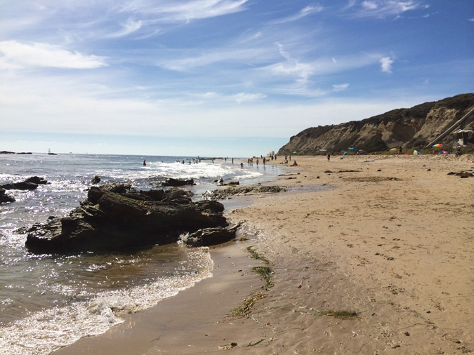 Crystal Cove State Park beach. Looking north toward the tidepools.