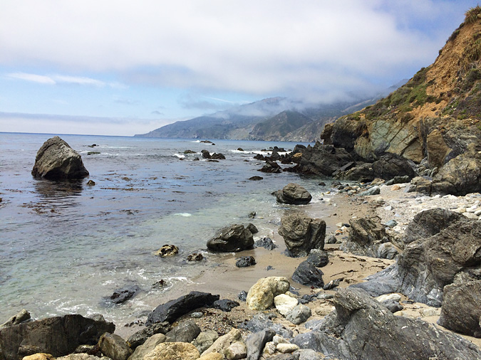 The beach at Kirk Creek Campground, Big Sur