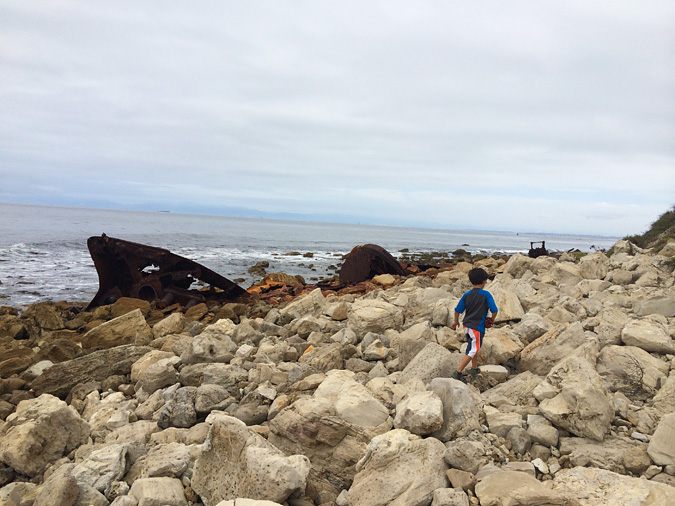 The SS Dominator shipwreck is strewn across several hundred yards