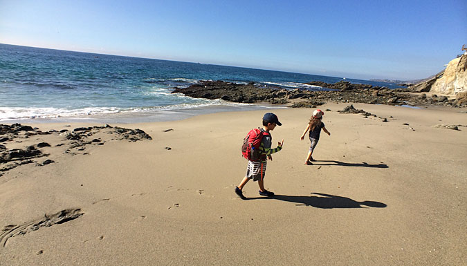 Past the lighthouse, walking toward the north to more tide pools