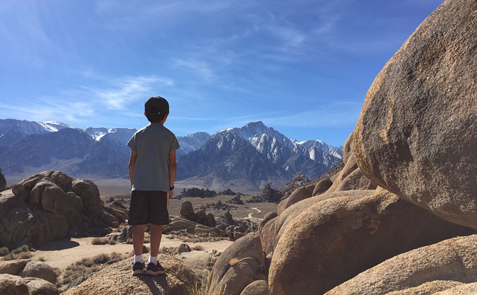 Alabama Hills looking toward Mt Whitney