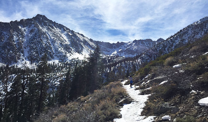 There wasn't much snow on the trail in early March