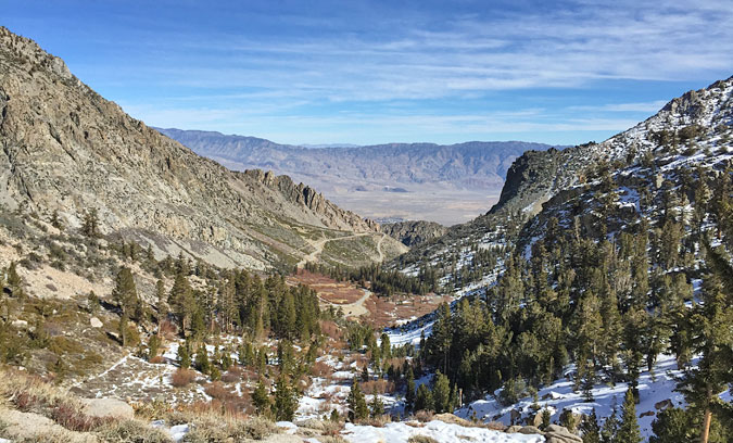The view down Onion Valley