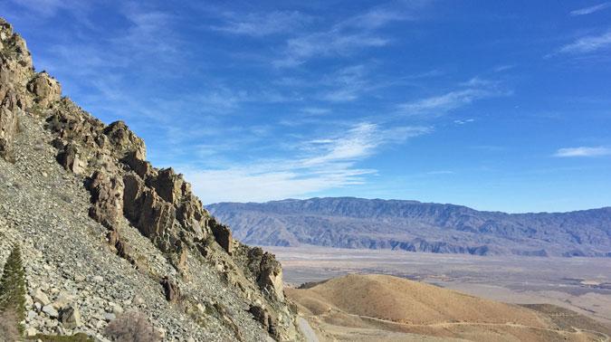 The desert floor below Onion Valley