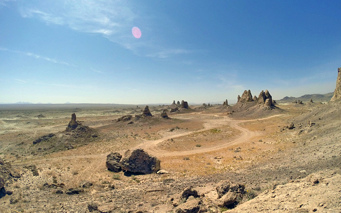 There are a number of roads that wind through the pinnacles