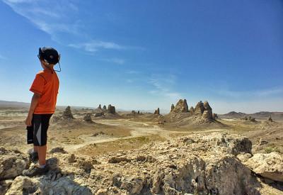 Exploring the Trona Pinnacles, Mojave Desert